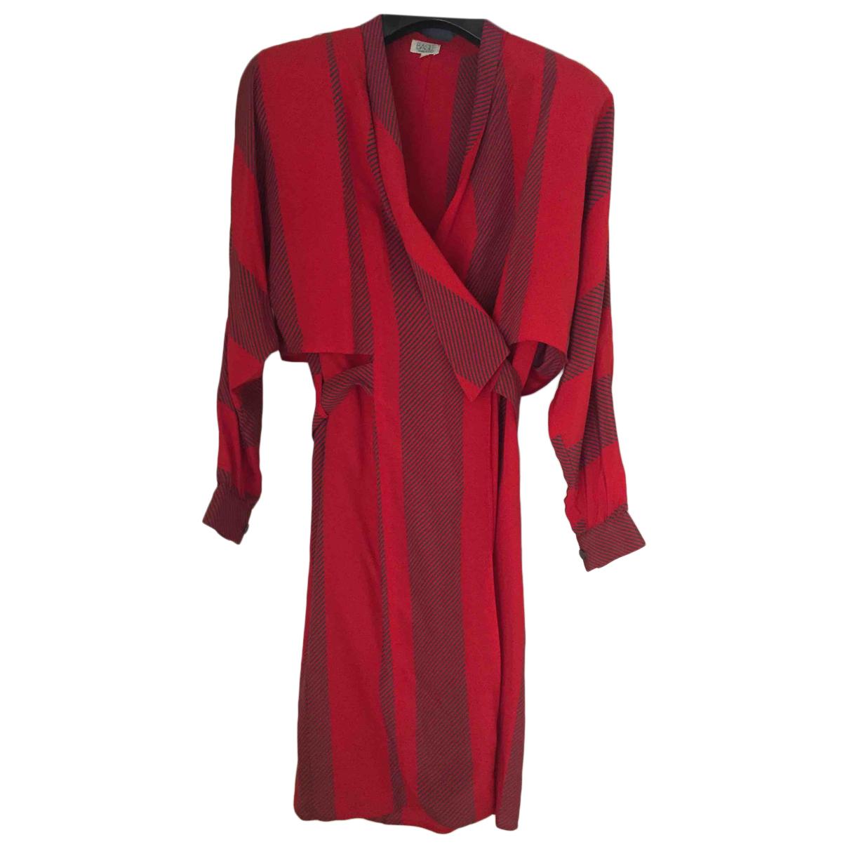 Basile N Red Silk dress for Women 40 IT