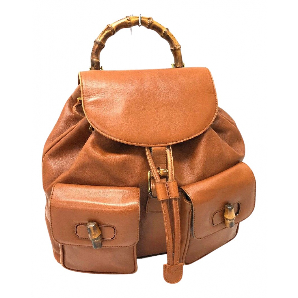 Gucci Bamboo Brown Leather backpack for Women N