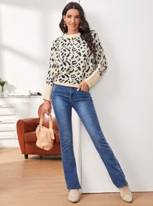 Dolman Sleeve All Over Sweater