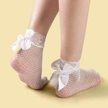 Calcetines de malla con lazo