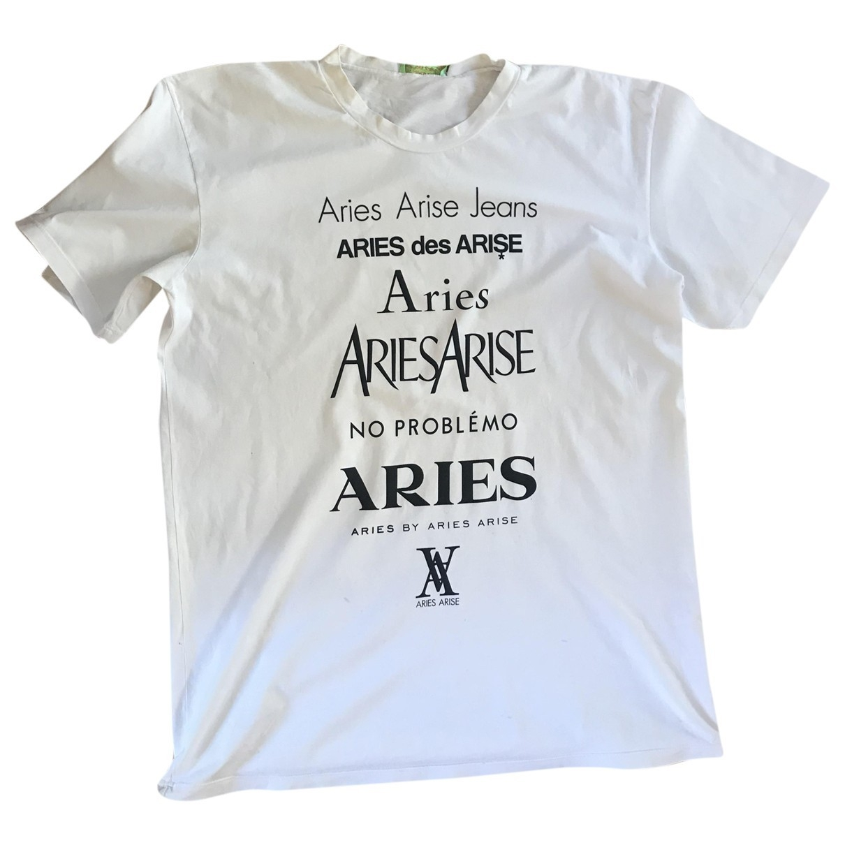 Aries \N White Cotton T-shirts for Men 3 0 - 6