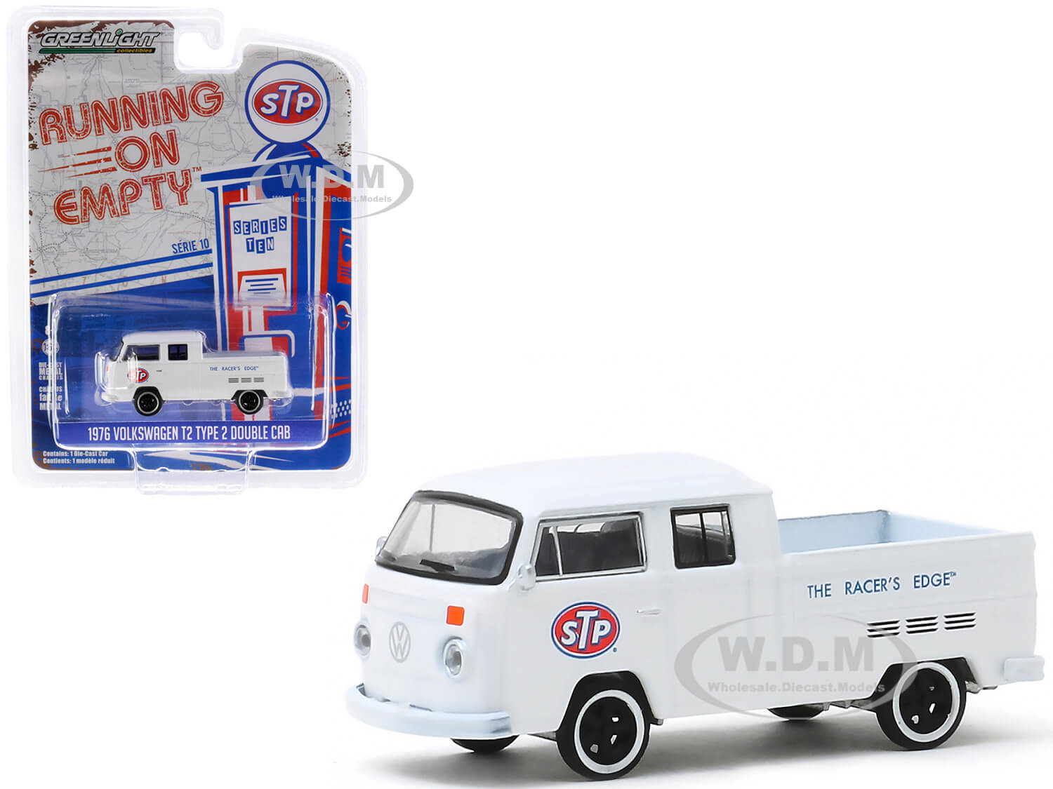 Volkswagen T2 Type 2 Double Cab Pickup Truck White