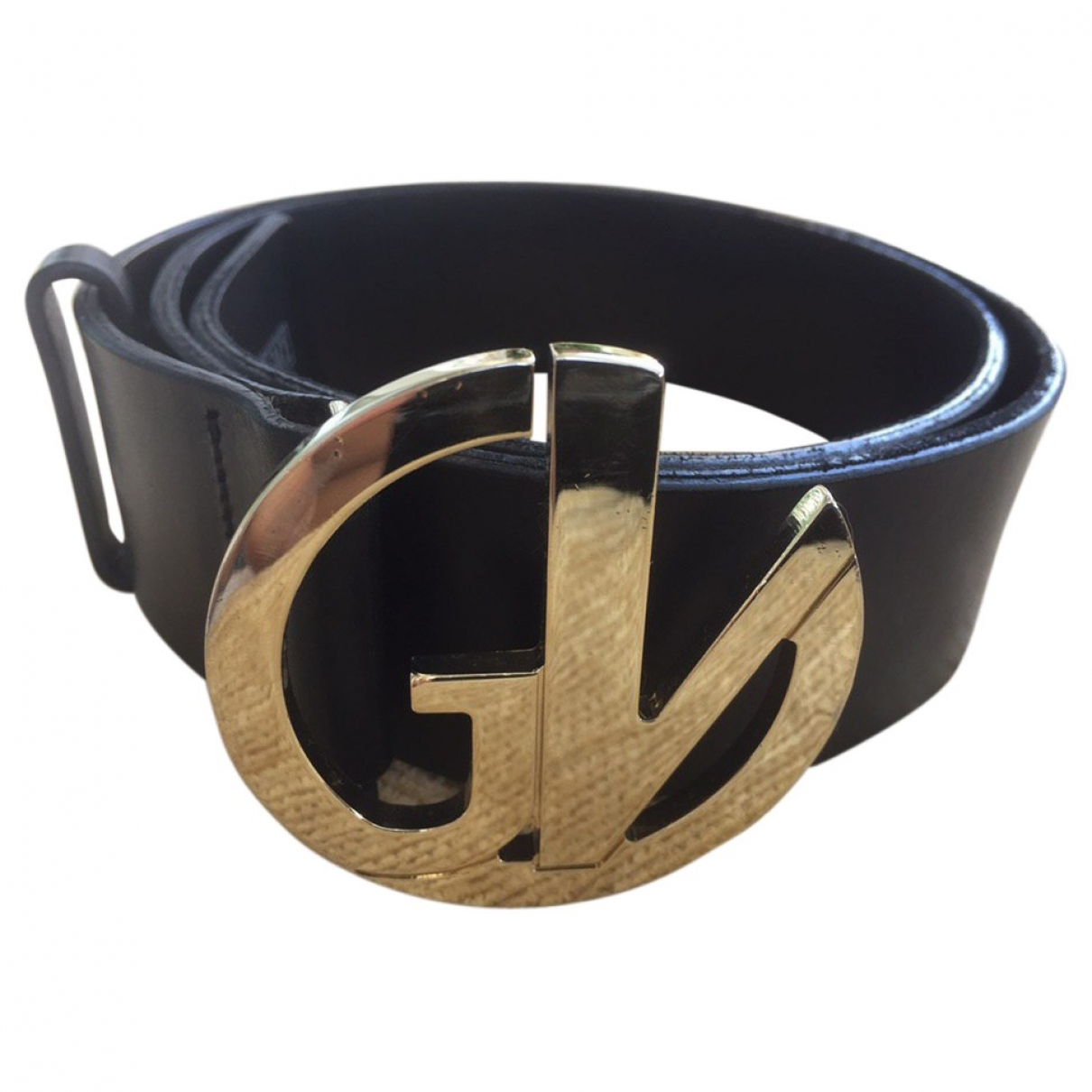 Versace \N Black Leather belt for Women 80 cm