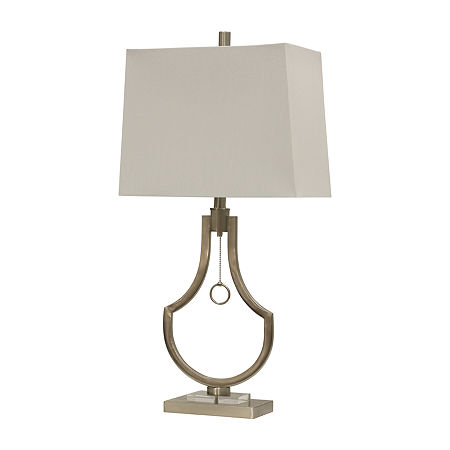 Stylecraft 15.5 W Brushed Steel Table Lamp, One Size , Silver