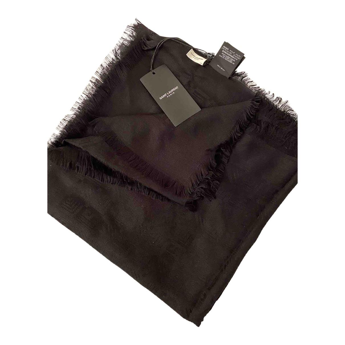 Saint Laurent \N Black Wool scarf for Women \N