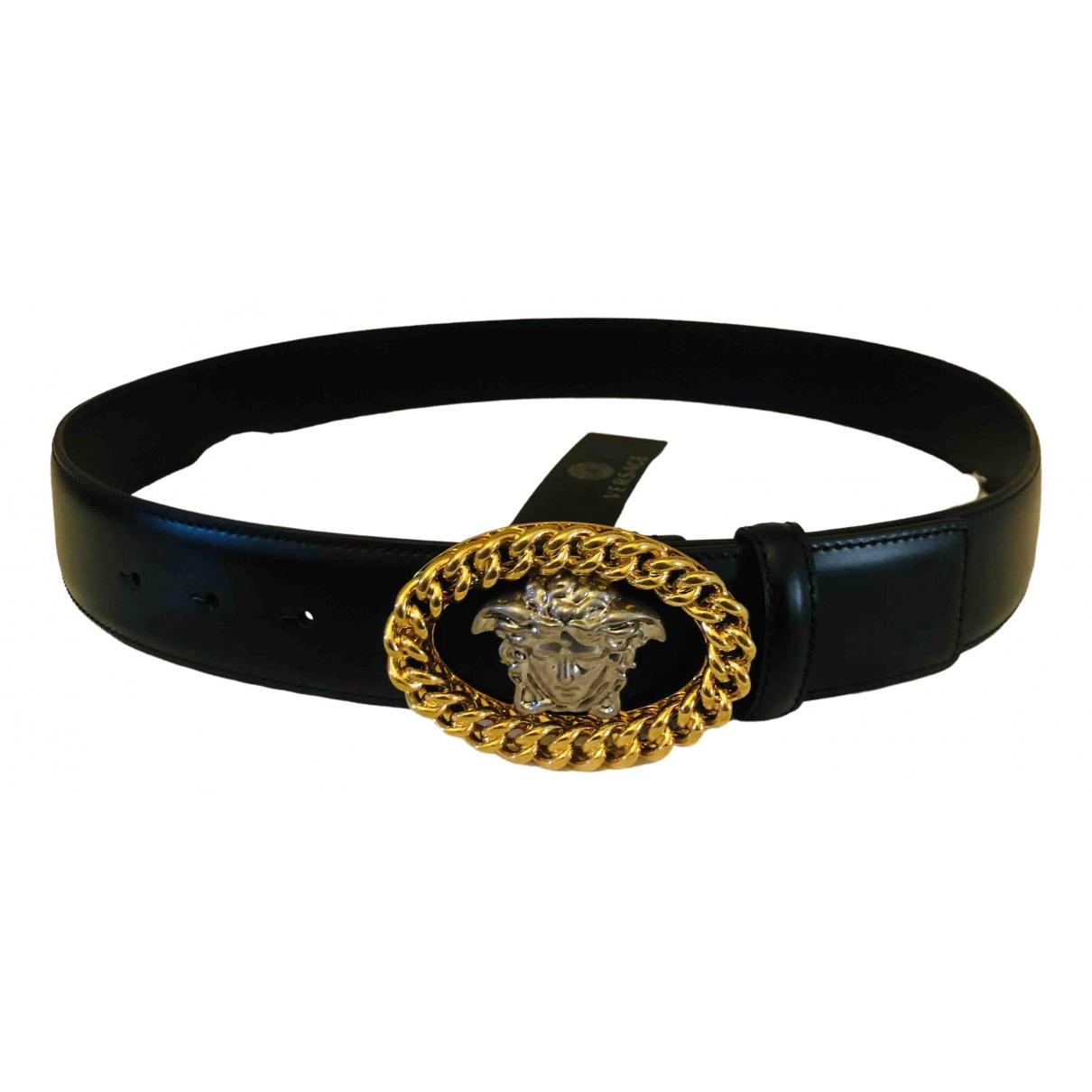 Versace \N Black Leather belt for Men 95 cm