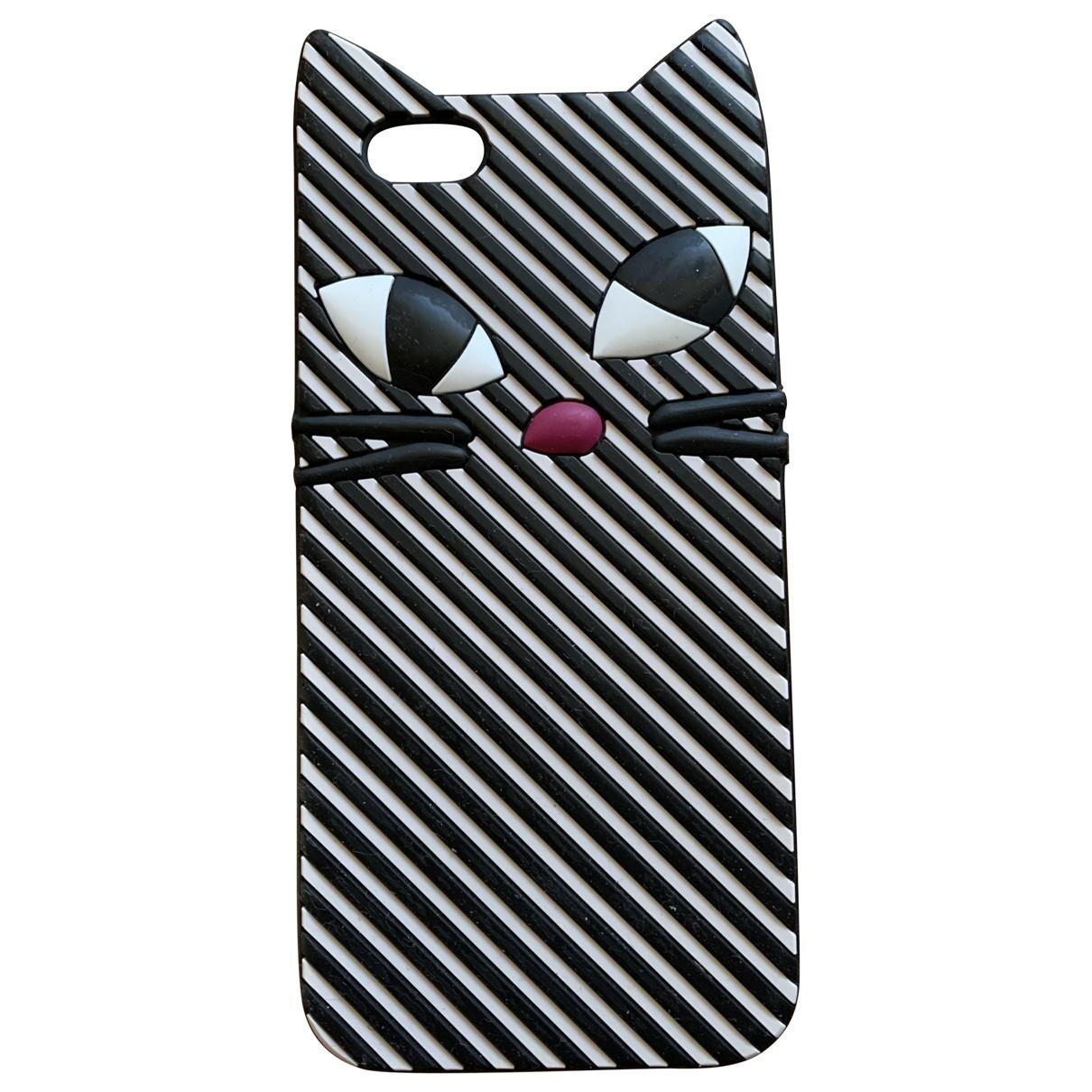 Lulu Guinness - Bijoux de portable   pour femme en suede - noir