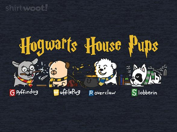 Hogwarts House Pups T Shirt