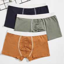 Guys 3pcs Lion Topstitching Boxer Brief