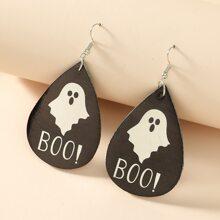 Ohrringe mit Halloween Geist Muster
