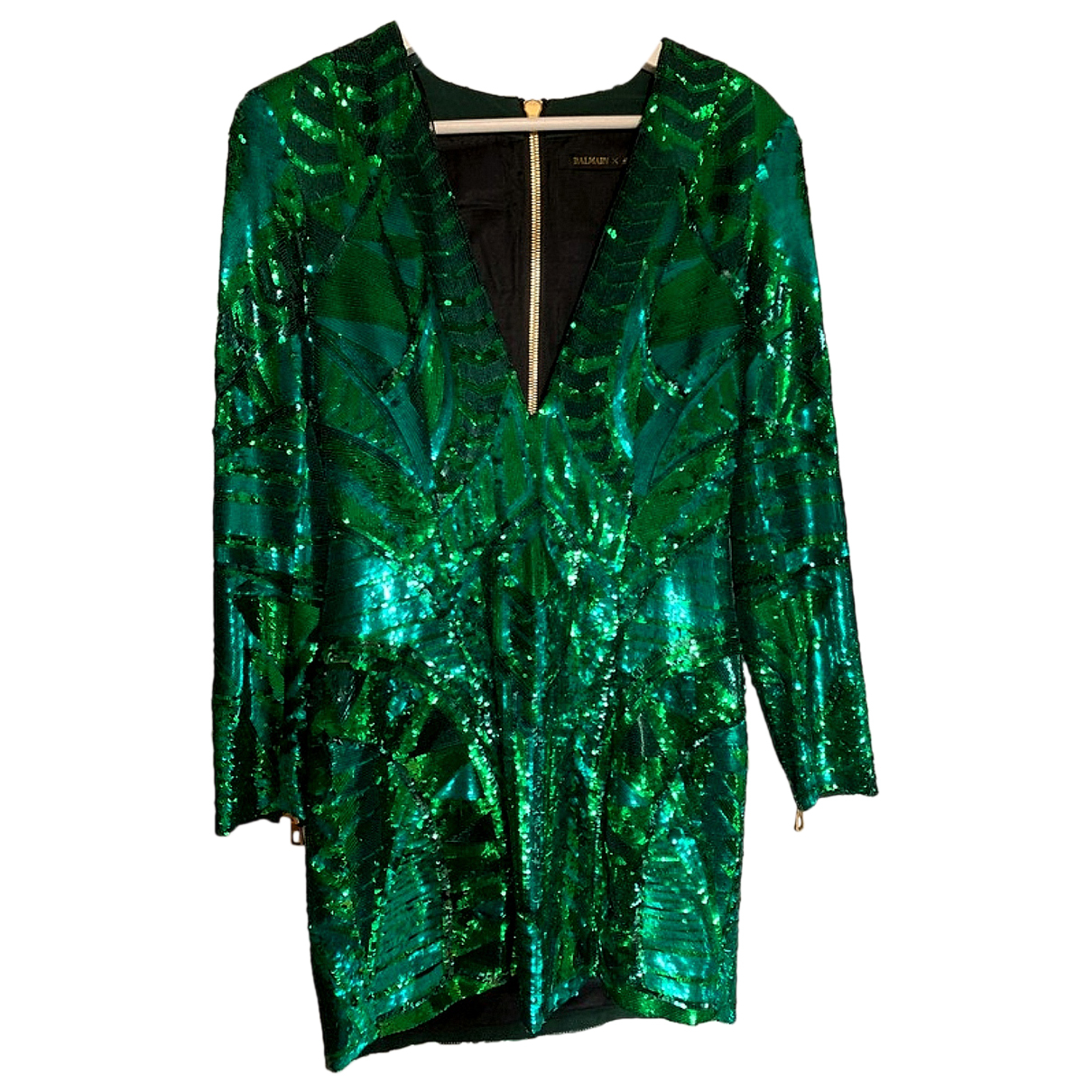 Balmain For H&m - Robe   pour femme en a paillettes - vert