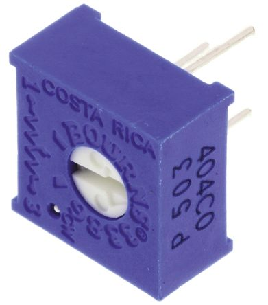 Bourns 50kΩ, Through Hole Trimmer Potentiometer 0.5W Top Adjust , 3386