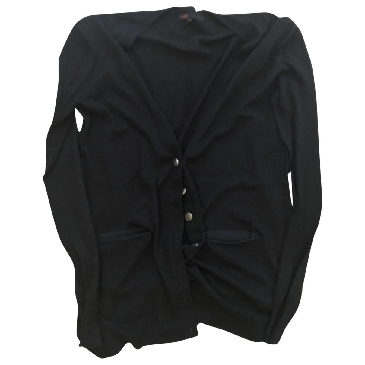 Maje Fall Winter 2019 Black Cotton Knitwear for Women 36 FR