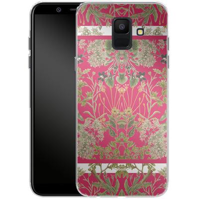 Samsung Galaxy A6 Silikon Handyhuelle - Botanic Frames von Zala Farah