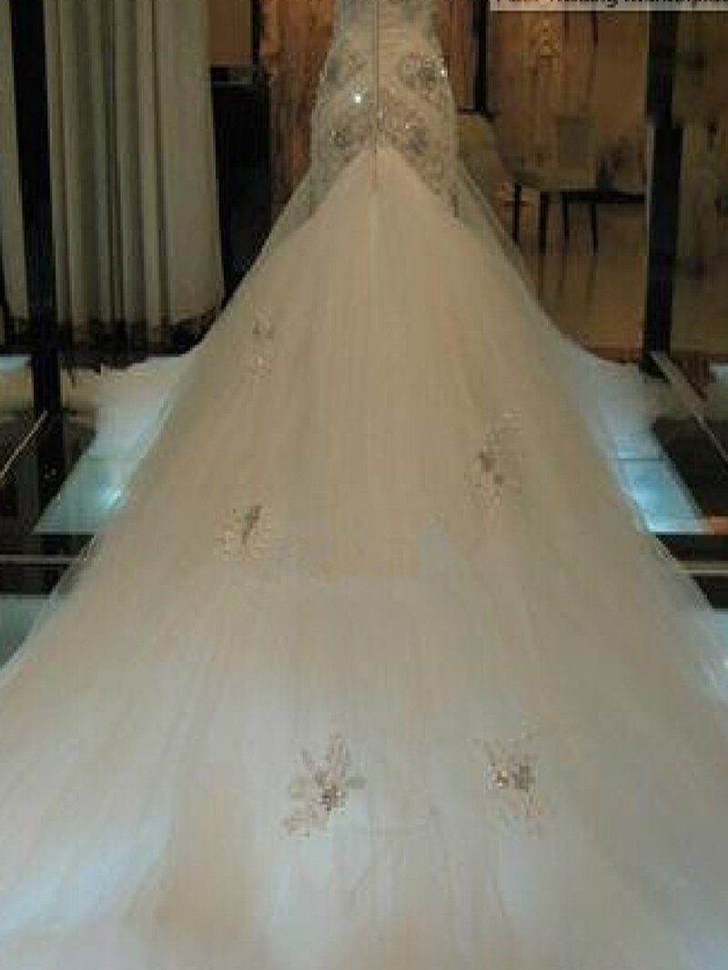 Ericdress Sweetheart Beading Mermaid Cathedral Train Wedding Dress