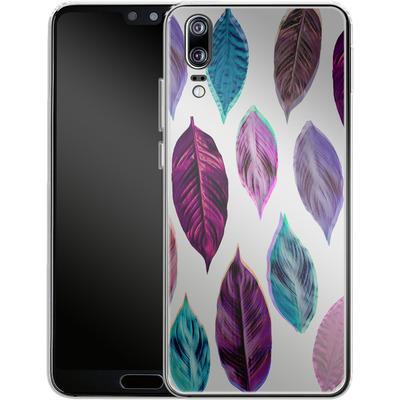 Huawei P20 Silikon Handyhuelle - Pink Leaves 2 von Mareike Bohmer