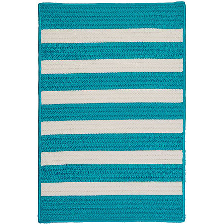 Colonial Mills Bayside Reversible Braided Indoor/Outdoor Rectangular Rug, One Size , Blue