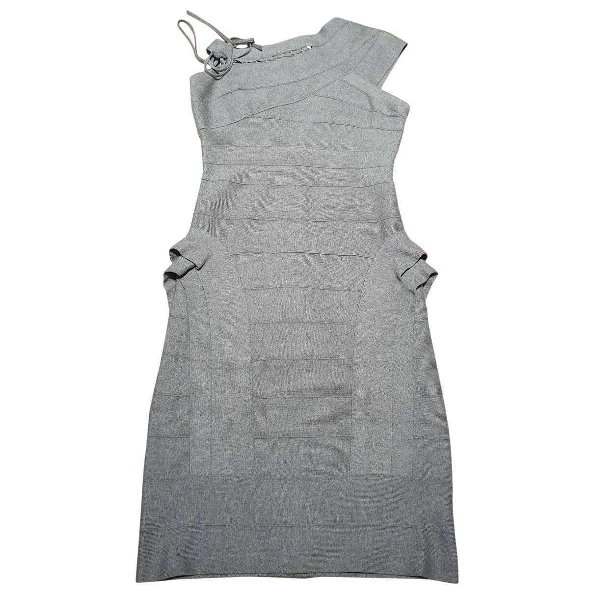 Herve Leger \N Grey Cotton - elasthane dress for Women M International