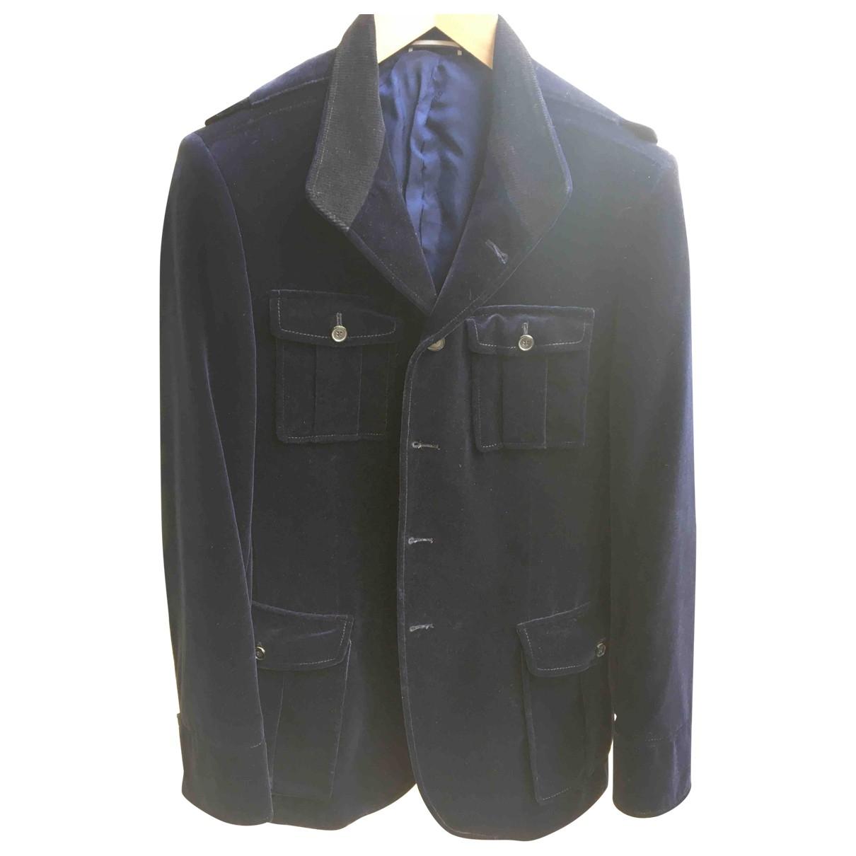 Karl Lagerfeld \N Blue Velvet jacket  for Men 48 FR