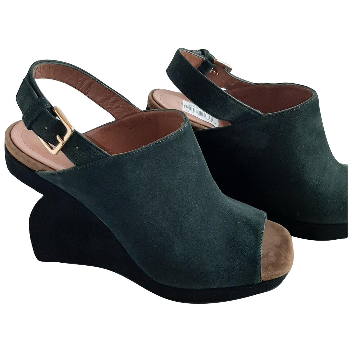 Marni \N Green Suede Sandals for Women 40 EU