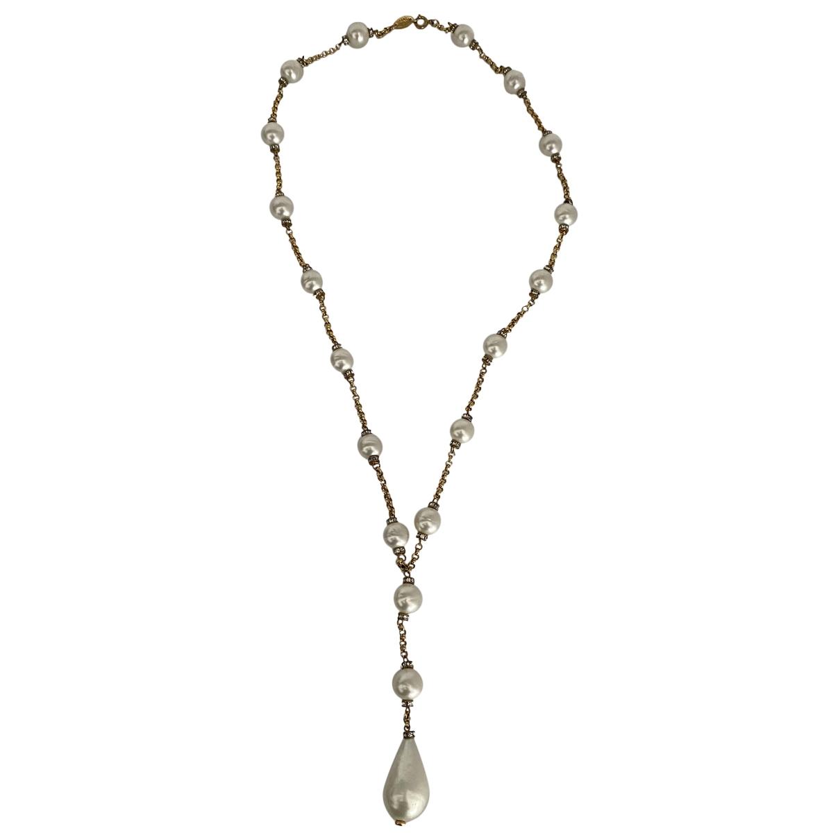 Chanel - Sautoir   pour femme en perles - beige