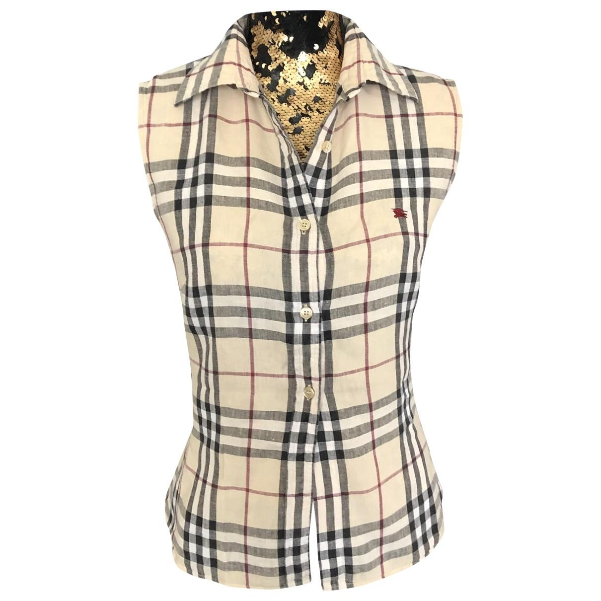 Burberry \N Beige Cotton  top for Women 42 FR