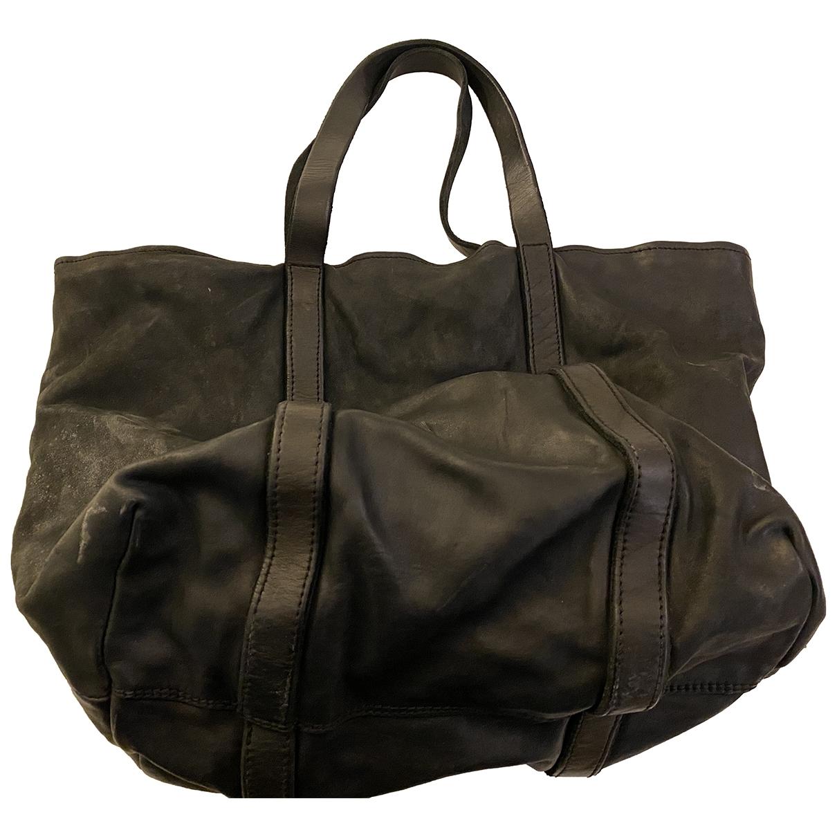 Guidi \N Black Leather handbag for Women \N