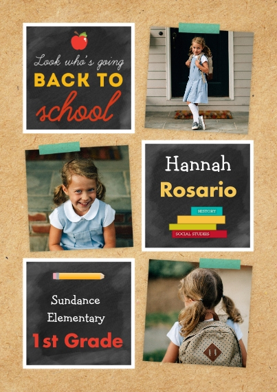 Back to School 5x7 Cards, Standard Cardstock 85lb, Card & Stationery -Scholastic Classic