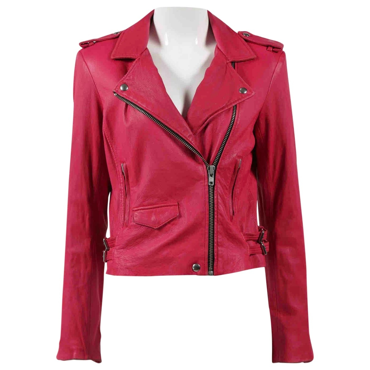 Iro \N Pink Leather jacket for Women 1 0-5
