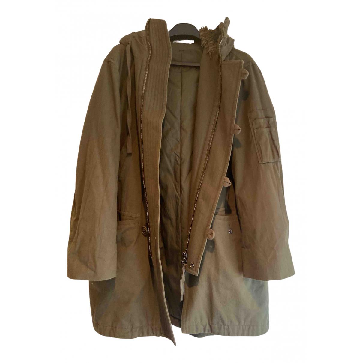 Vince - Manteau   pour femme en coton - vert