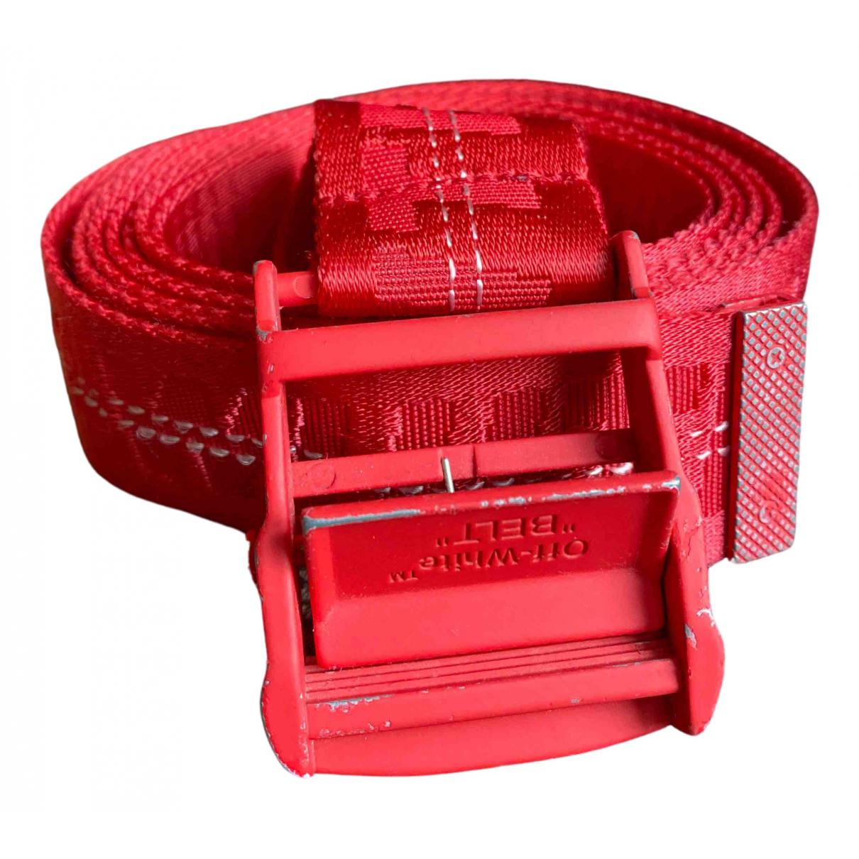 Off-white N Red belt for Women L International