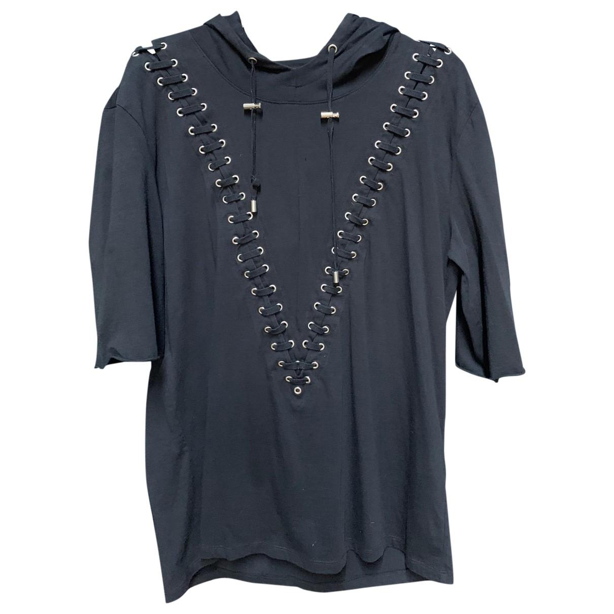 Balmain - Tee shirts   pour homme en coton - noir