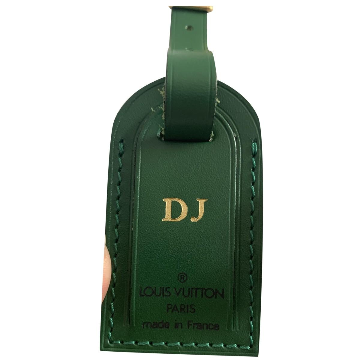 Louis Vuitton - Petite maroquinerie Porte adresse pour femme en cuir - vert