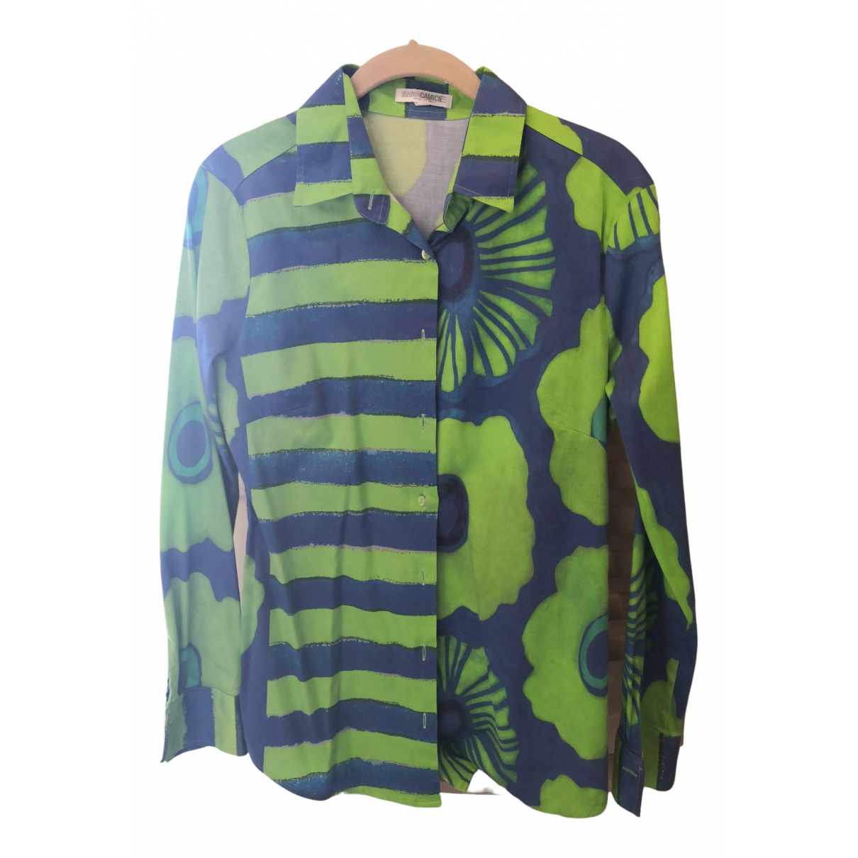 Non Signé / Unsigned \N Green Cotton  top for Women 42 IT