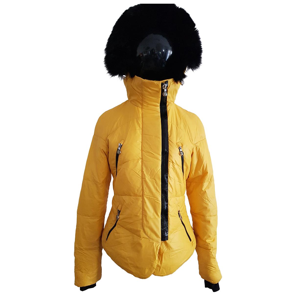 Fendi - Manteau   pour femme en renard - jaune