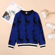 Pullover mit Rentier Grafik