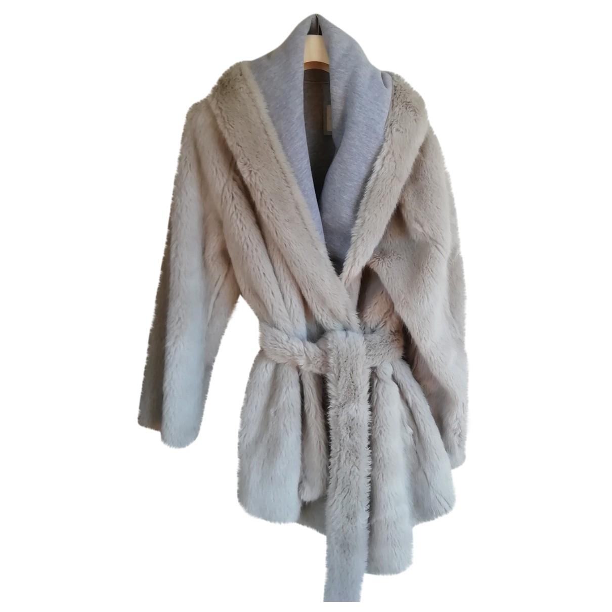 Autre Marque - Manteau   pour femme en fourrure synthetique - gris