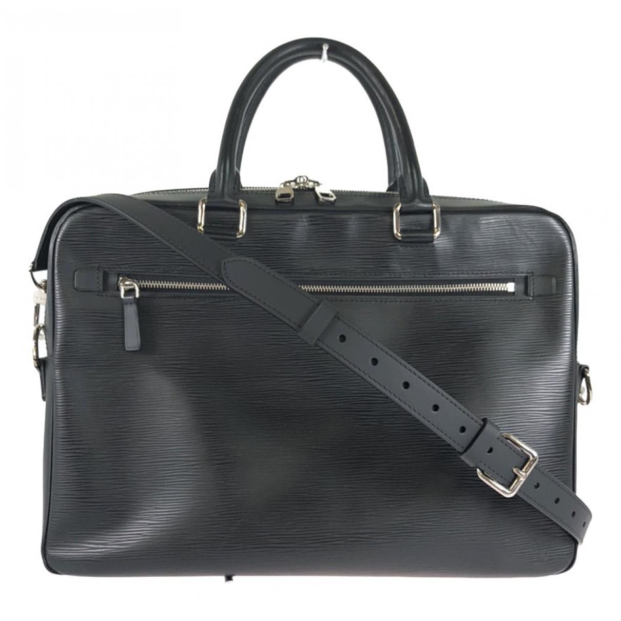 Louis Vuitton Porte Documents Jour Black Leather bag for Men N
