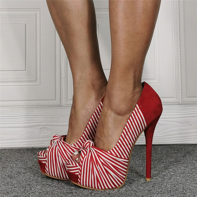 Ericdress Stiletto Heel Peep Toe Slip-On Sexy Thin Shoes