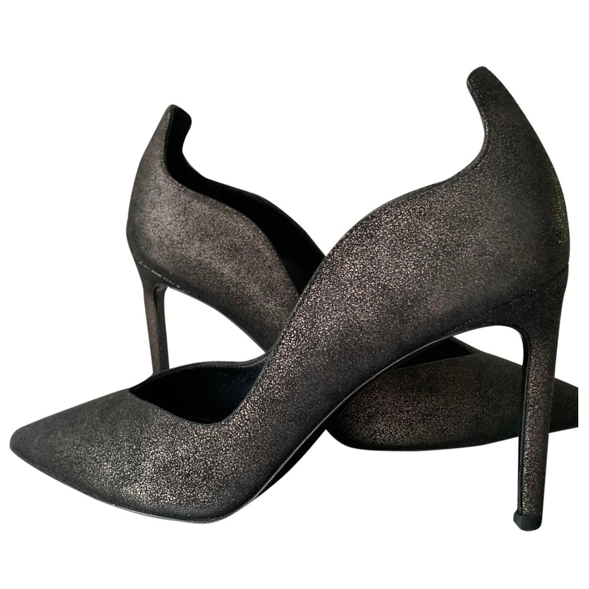 Delman - Escarpins   pour femme en cuir - anthracite
