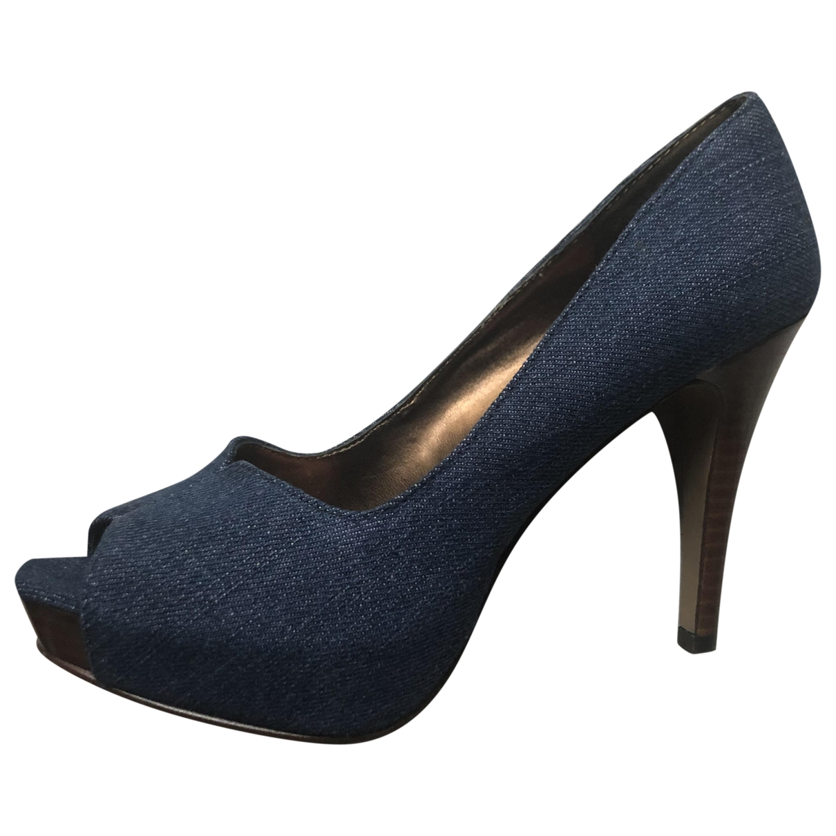 Nine West \N Pumps in  Blau Leinen