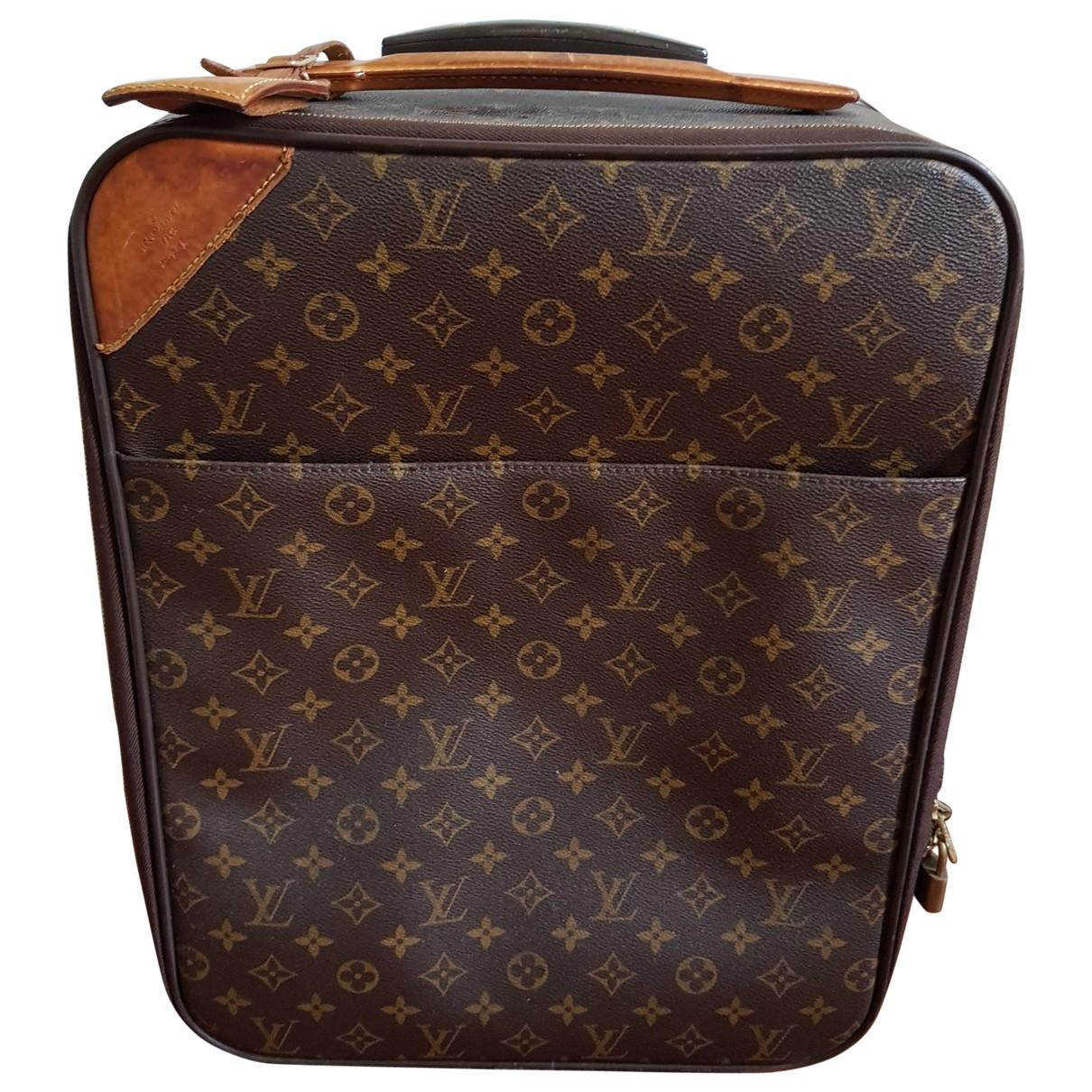 Louis Vuitton - Sac de voyage Pegase pour femme en toile - marron