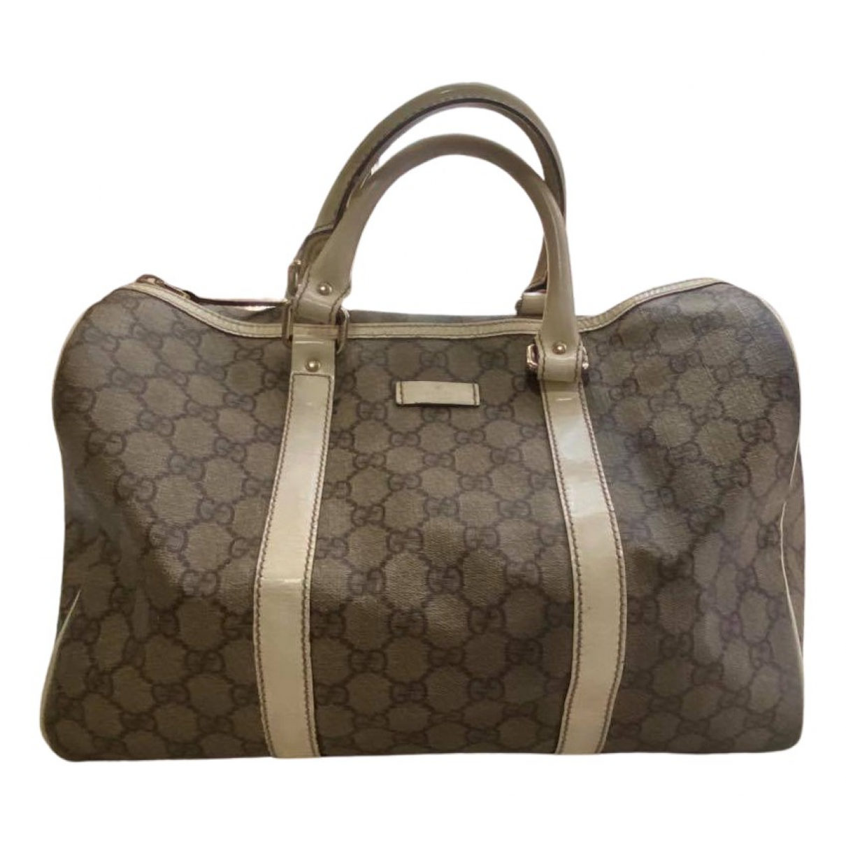 Gucci Boston Handtasche in  Braun Leinen