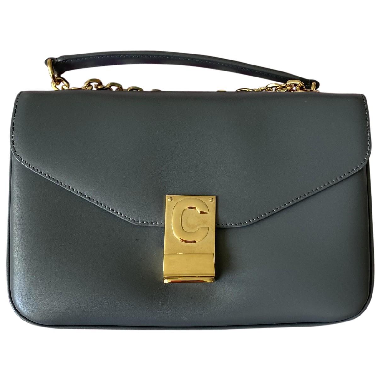 Celine - Sac a main C bag pour femme en cuir - gris