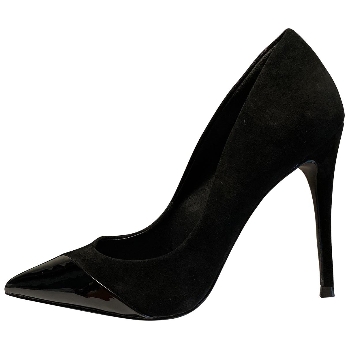 Steve Madden \N Black Suede Heels for Women 37.5 EU