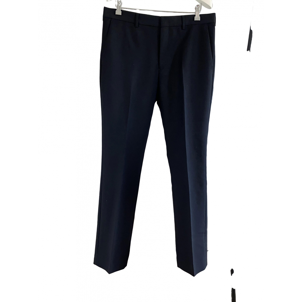 Givenchy \N Black Wool Trousers for Men 46 IT