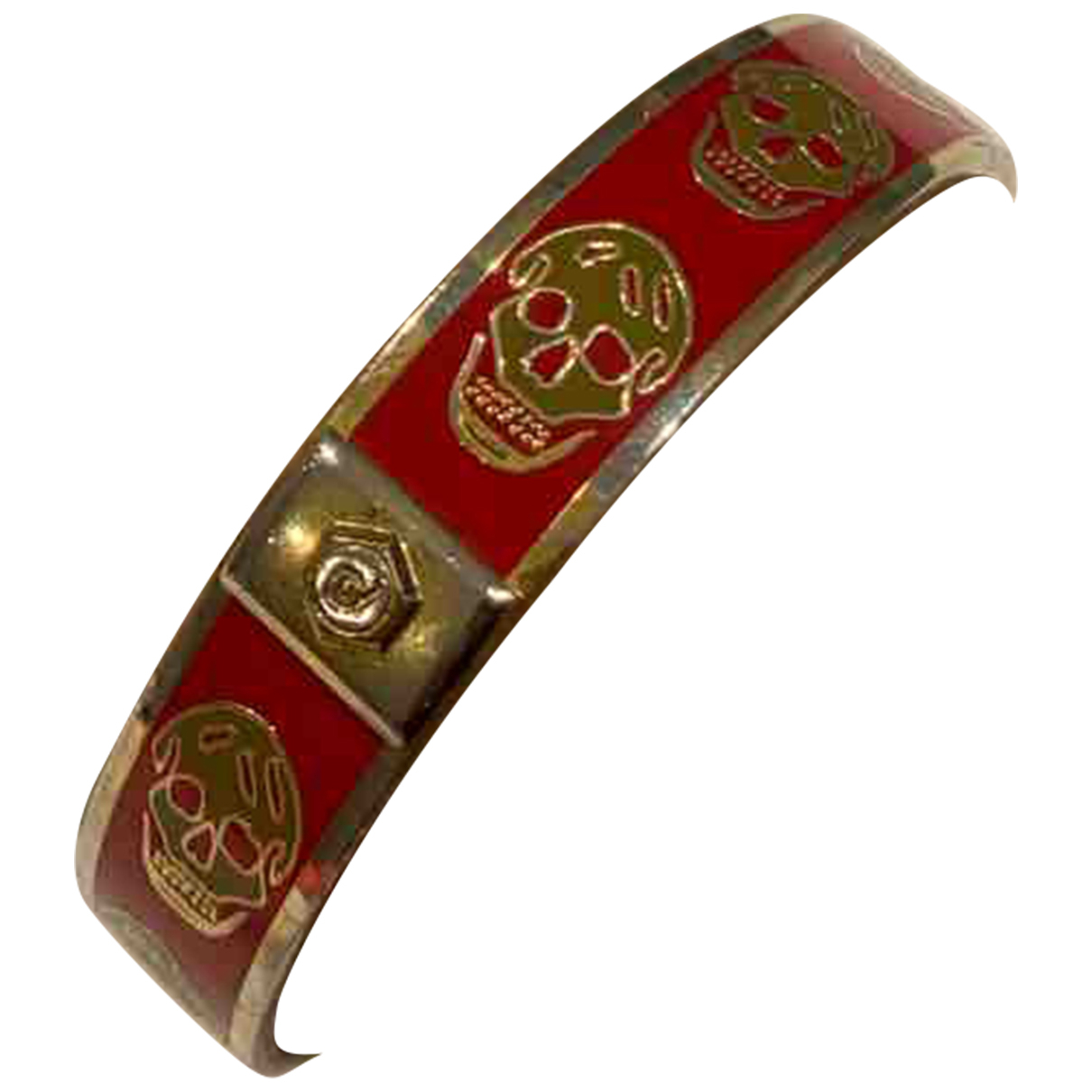 Alexander Mcqueen \N Armband in  Rot Metall