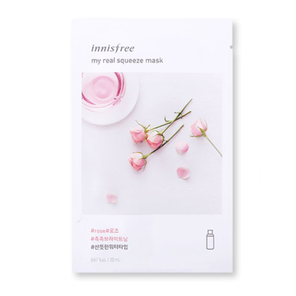 Innisfree My Real Squeeze Mask, Rose - 20ml. 1Pc