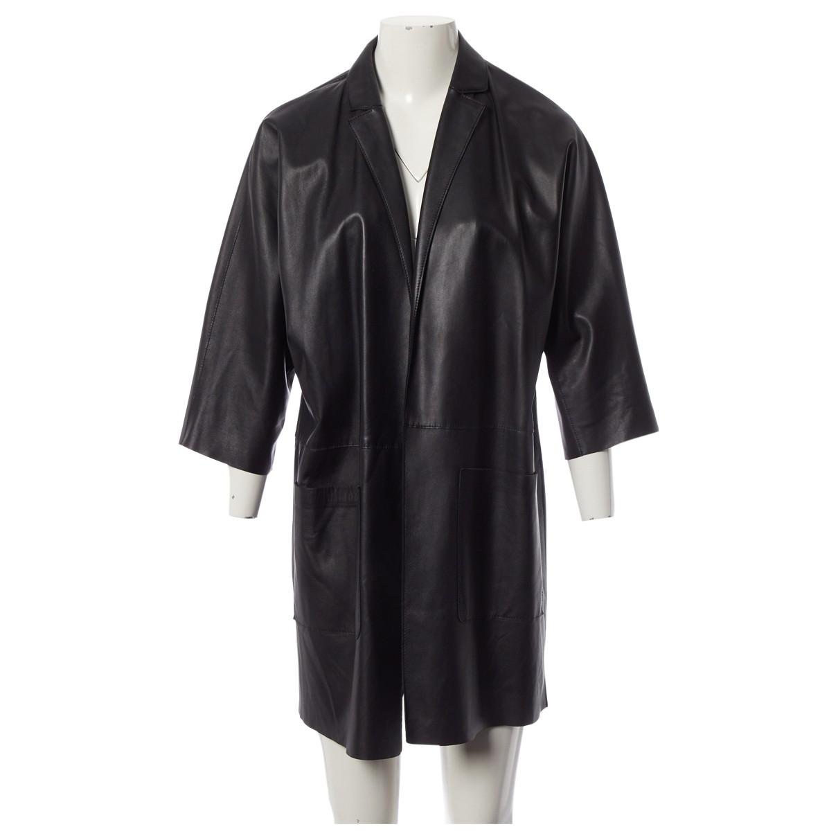 Gembalies - Manteau   pour femme en cuir - noir