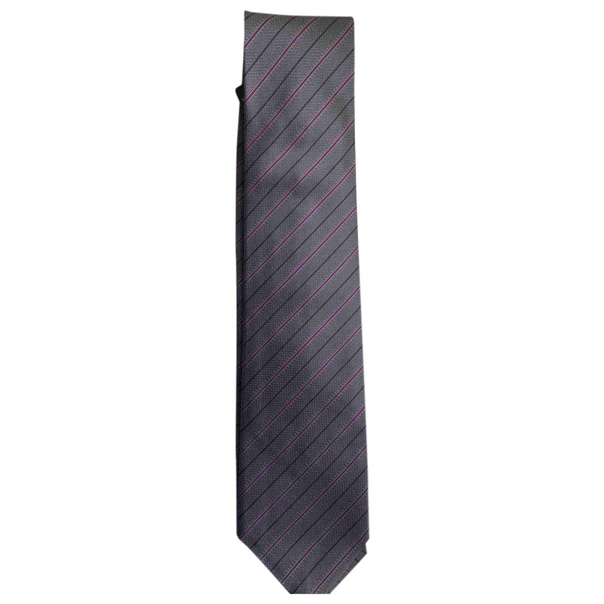 Bvlgari \N Krawatten in  Grau Seide